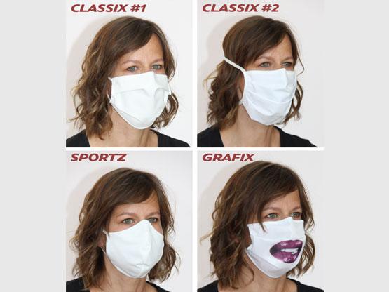 Mund- und Nasenmasken / Community-Masken / bedruckt und unbedruckt
